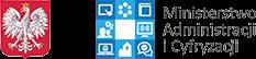 Godło Polski i logo Ministerstwa Administracji i Cyfryzacji